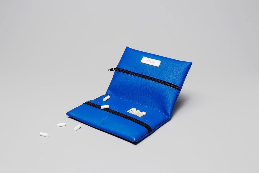 Pouch in blueVegan leather pouch in blue