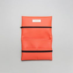 Vegan leather pouch in coral