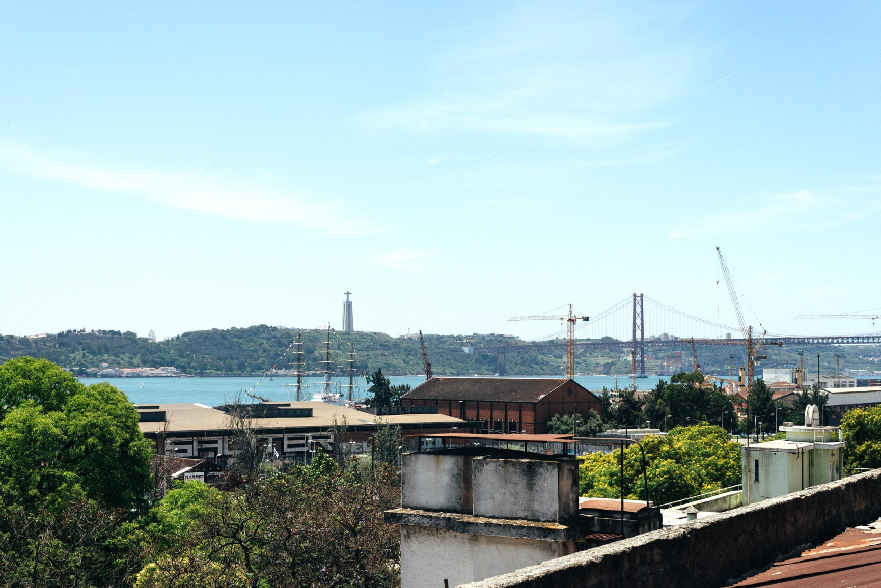 View over Lisbon — at Alkantara