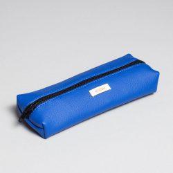 Vegan leather pencil case in blue