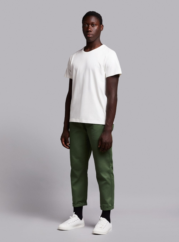 Drawstring trousers (green) in cotton, made in Portugal by wetheknot.