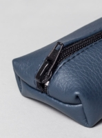 Pencil case (dark blue) in vegan leather, made in Portugal by wetheknot.