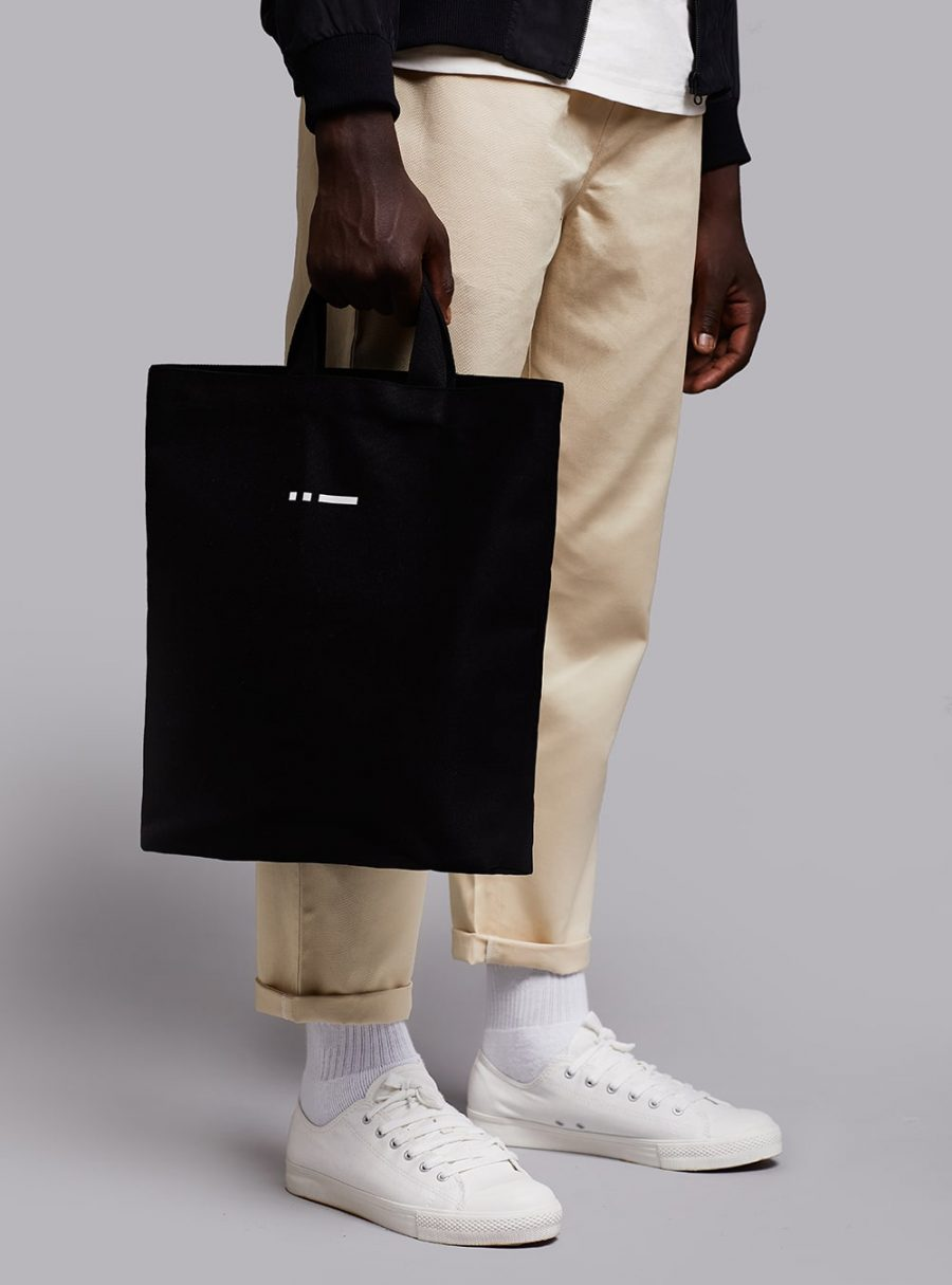 Shopper bag (black) in cotton, made in Portugal by wetheknot.