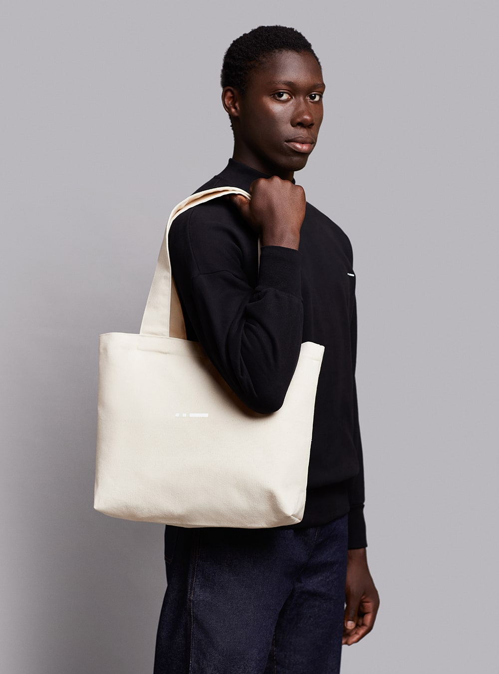 Tote bag (warm white) in cotton, made in Portugal by wetheknot.