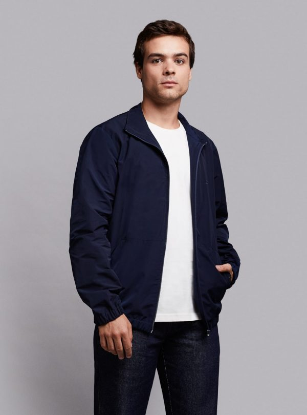 Windbreaker jacket (lightweight) in dark blue, made in Portugal by wetheknot.