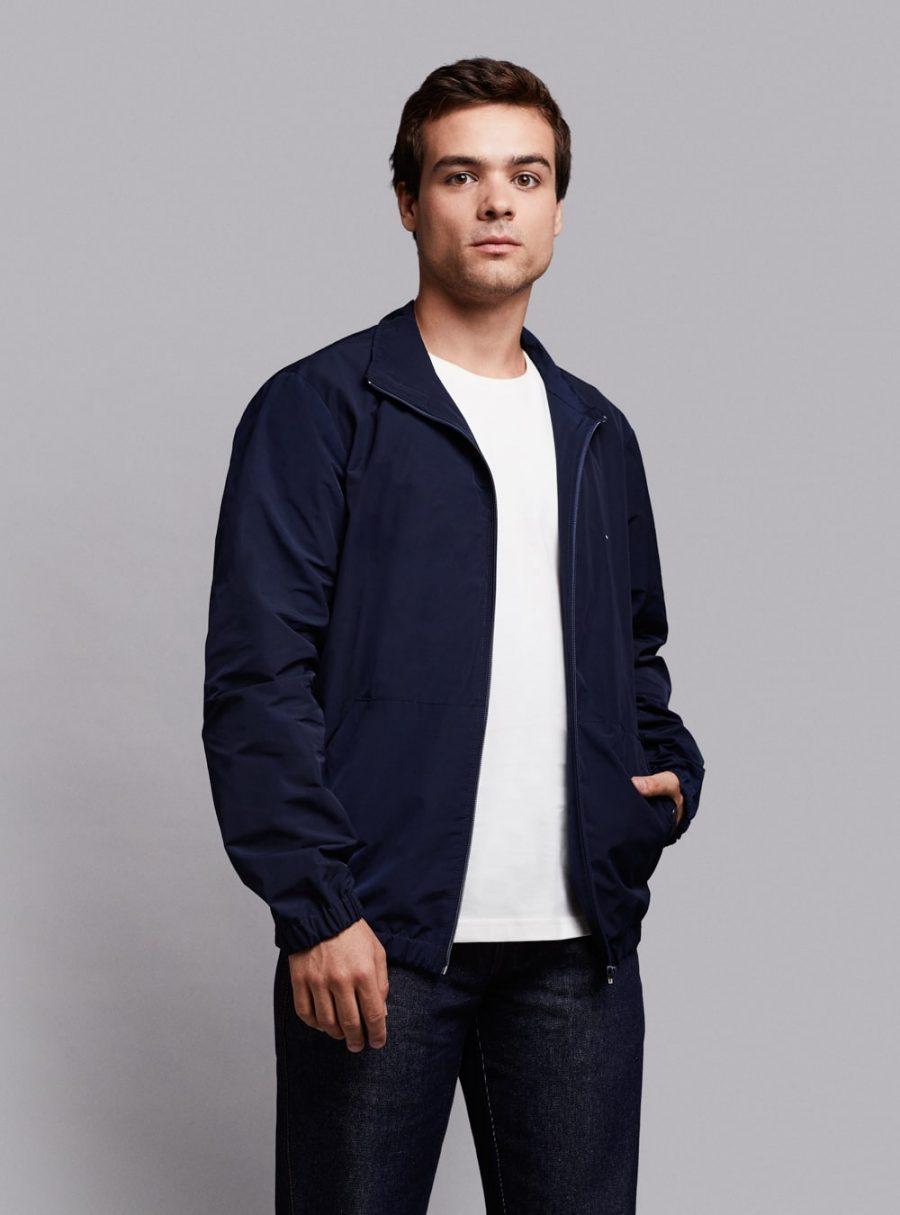 Windbreaker jacket (lightweight) in dark blue, made in Portugal by wetheknot.