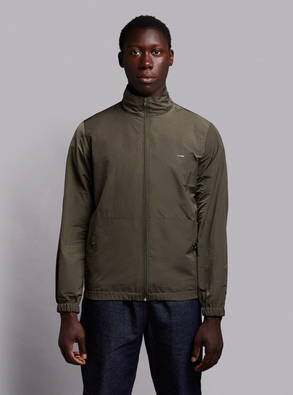 Windbreaker jacket (lightweight) in olive green, made in Portugal by wetheknot.