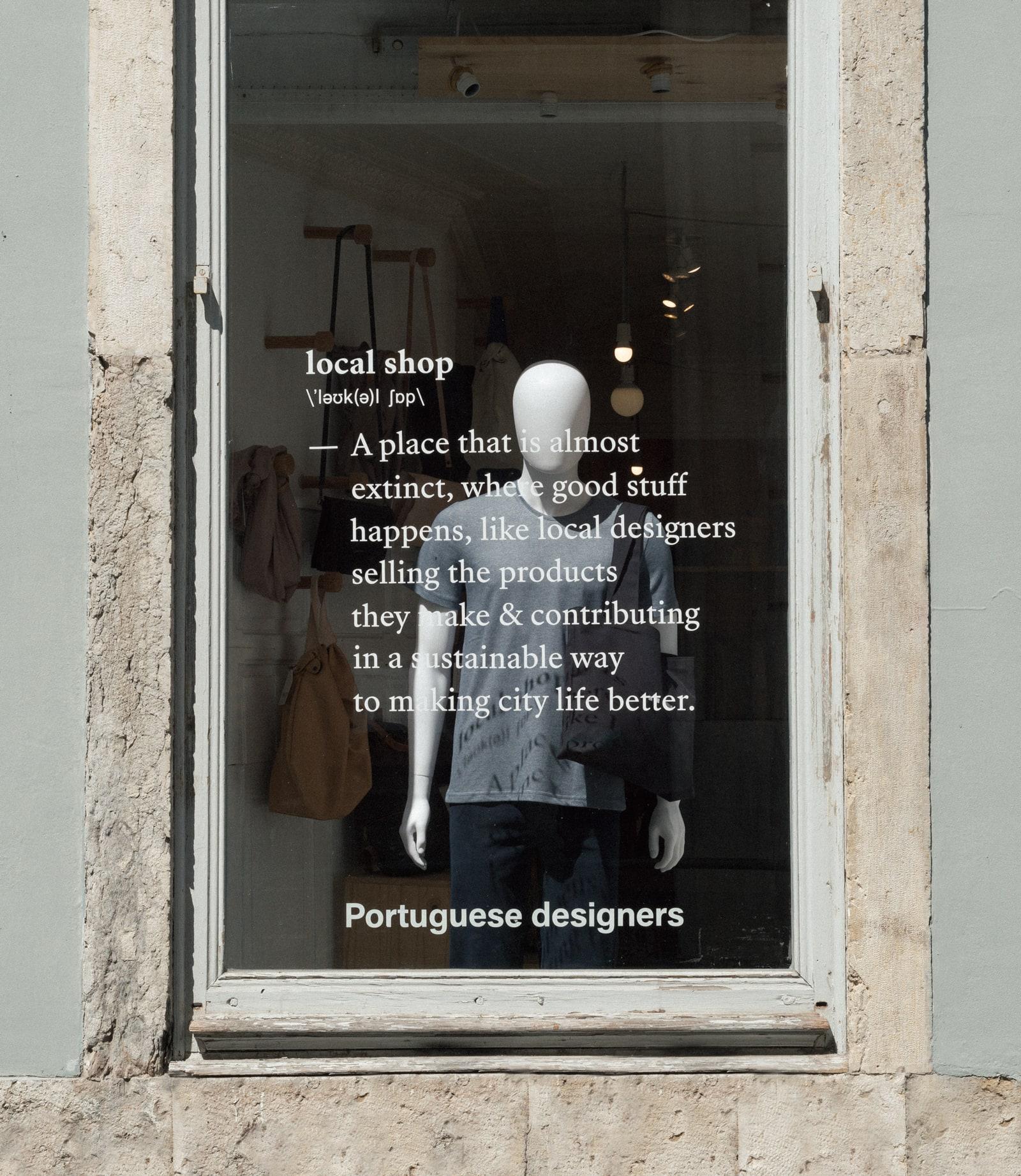 wetheknot window, local shop