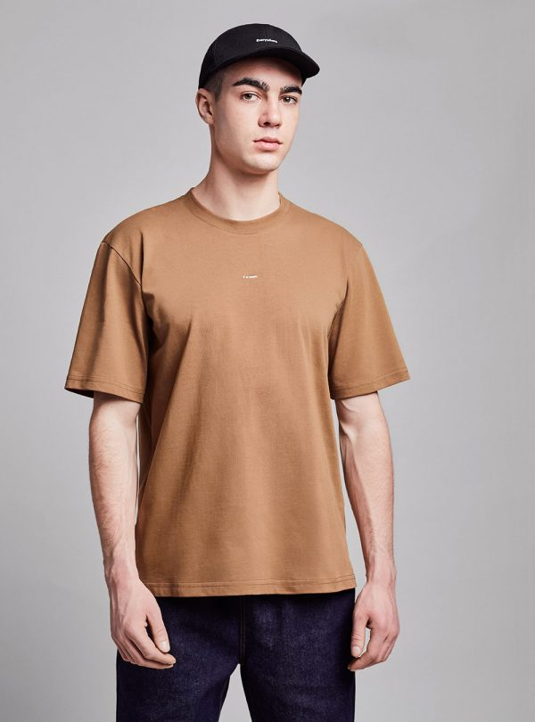 Relaxed t-shirt (brown) in organic cotton, made in Portugal by wetheknot.