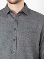 wetheknot casual shirt black cotton 04 made in portugal overshirt