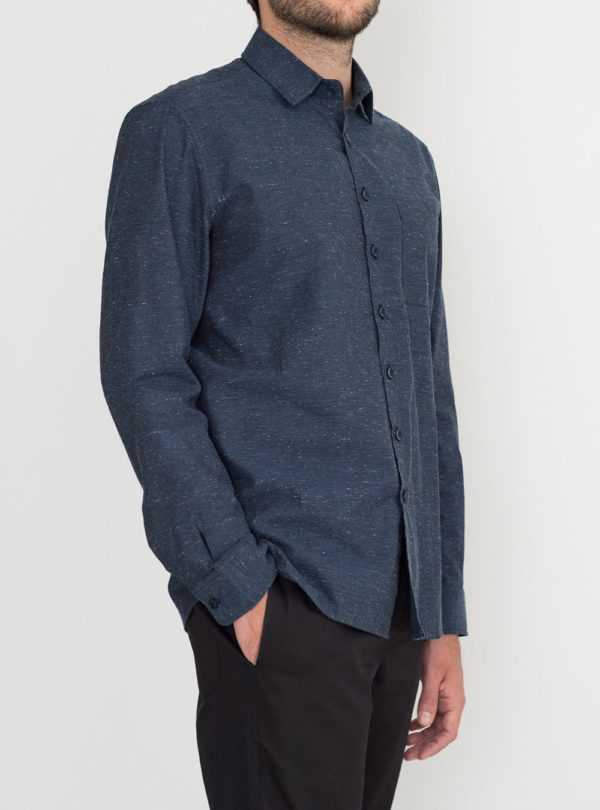 wetheknot overshirt casual shirt dark blue cotton 02