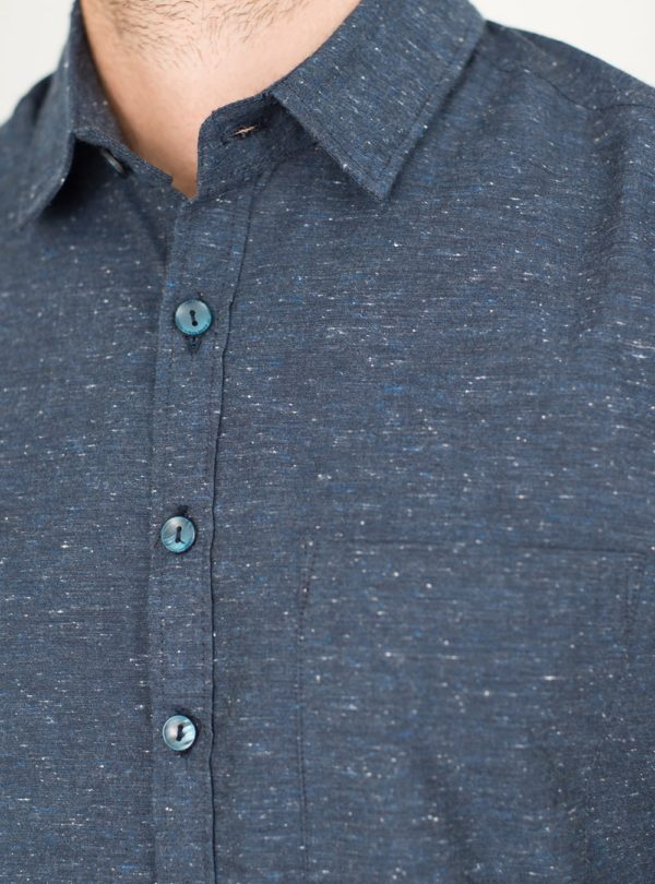 wetheknot casual shirt dark blue cotton 06