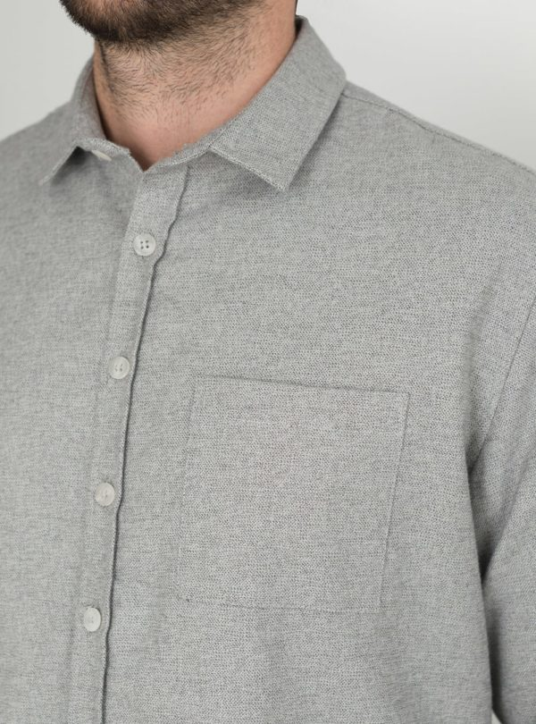 wetheknot casual shirt pale grey cotton 05 made in portugal overshirt