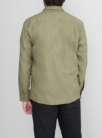 wetheknot casual shirt light green cotton 03 made in portugal overshirt