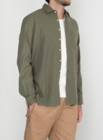 wetheknot casual shirt olive green cotton 02 overshirt