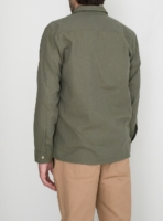 wetheknot casual shirt olive green cotton 04 overshirt