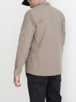 wetheknot casual shirt pale brown cotton 03 made in portugal overshirt