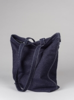 Denim tote bag (dark denim) in cotton, made in Portugal by wetheknot.