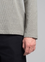 Graphic piqué long sleeve (green melange), made in Portugal by wetheknot