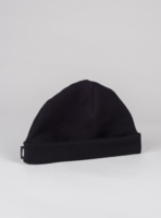 Piqué beanie hat (black) in organic cotton, made in Portugal by wetheknot.