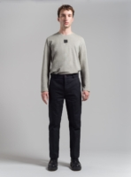 Straight-leg trousers (black) in cotton, made in Portugal by wetheknot